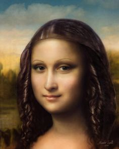 Leonardo da Vinci was one of the greatest artists and visionary minds in history and I really wanted to create my homage to the Mona Lisa Vision of the Mona Lisa Mona Friends, La Madone, Mona Lisa Parody, Mona Lisa Smile, Art Folder, Jesus Pictures, Caricature, Great Artists, Illustration Art
