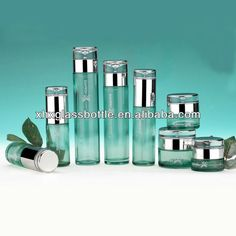 1.various sizes glass cosmetic bottle with dispenser pump  2.logo available  3.high quality competitive price  4.ISO9001