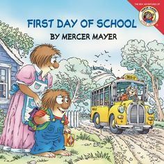 Little Critter is a bit nervous about starting school today. There's a lot to be done before he can even get on the bushe has to pick out his clothes, find his backpack, pack the perfect lunch, and sa First Day School, School Today, Back To School, School Stuff, Mercer Mayer Books, Charlotte, Starting School, Kindergarten First Day, Great Books To Read
