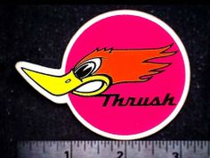 THRUSH - Original Vintage 1960's 70's Racing Decal/Sticker