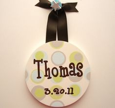 LotAspots - Baby Birth Date Name Hanging Room Accessory - Kids Accessories only $24.95 - Wall Letters