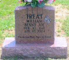 Tombstone Photo - William Benny Joe Ben Treat Tombstone #genealogy