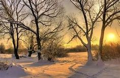 sunset on a winter day