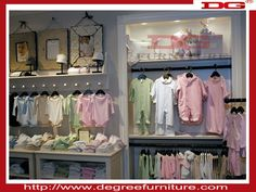 kid clothes shop furniture design with MDF or glass or acrylic