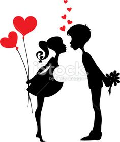 Silhouette of a couple in love Royalty Free Stock Vector Art . Vector Preto E Branco Love, couple, black and white Silhouette or cricut things I am working on. Silhouette of two people with red hearts Young love on entines Day! Couple Silhouette, Silhouette Art, Wedding Silhouette, Couples In Love, Paper Cutting, Vector Art, Illustration, Paper Art, Art Drawings