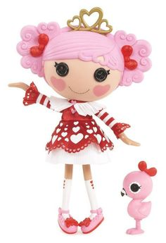 Queenie Red Heart Full Size Doll (#68) Sewn on	September 28th Sewn from A deck of cards Pet Flamingo