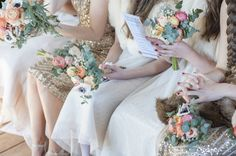Gold Bridesmaids Dresses Banqueting Hall Wedding Helsinki BHLDN Shoes Ben Wetherall Photography