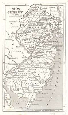 """New Jersey.  Phelps, Fanning & Co.  1853.  State map from: """"Fanning's illustrated gazetteer of the United States... 1853."""" With text."""