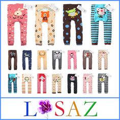 Cartoon PP Pants Baby Romper Newborns Cotton Tights Baby Clothing 6pcs/Lot $19.39