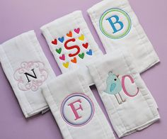 ebroiderd burb cloths | Embroidered Burp Cloths | Flickr - Photo Sharing!