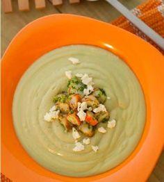 avodado soup with citrus shrimp relish