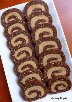 AranyTepsi: Cappuccinokrémes keksztekercs Hungarian Desserts, Hungarian Recipes, Dessert Drinks, Dessert Recipes, My Recipes, Sweet Recipes, Recipies, Homemade Sweets, Sweet Pastries