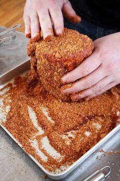 DIY dry rub:  brown sugar, paprika, garlic, onion, salt, pepper, cumin, chipotle, mustard powder, cayenne
