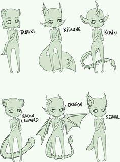 Chibi Demons Bases
