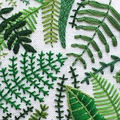 Marvelous Crewel Embroidery Long Short Soft Shading In Colors Ideas. Enchanting Crewel Embroidery Long Short Soft Shading In Colors Ideas. Embroidery Leaf, Hand Embroidery Stitches, Cross Stitch Embroidery, Embroidery Patterns, Diy Broderie, Cross Stitching, Sewing Crafts, Needlework, Crochet