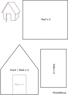 gingerbread house template Template for gingerbread house 4 Cardboard Gingerbread House, Haunted Gingerbread House, Gingerbread House Patterns, Gingerbread Village, Christmas Gingerbread House, Gingerbread House Template Printable, Christmas Templates, Templates Printable Free, Diy Christmas Village