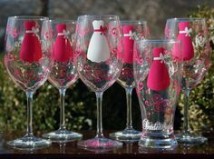 Set of 8 Personalized Bridesmaids Wine by SweetSouthernCompany, $80.00