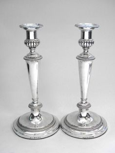 05f41d297b7 III SOLID SILVER CANDLESTICKS / CANDLE HOLDERS LONDON 1806 John Bull  Antiques