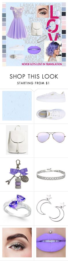 """""""Untitled #5"""" by tekiii ❤ liked on Polyvore featuring Puma, Everlane, Ray-Ban, Ladurée, Kenneth Jay Lane, Ana Accessories, Avon and Jeffree Star"""