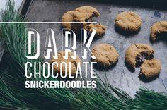 Dark Chocolate Snickerdoodles | Thou Swell x Common Comfort http://thouswell.co/dark-chocolate-snickerdoodle-recipe