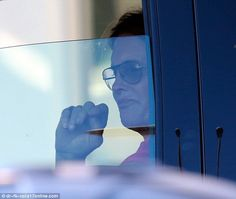 New look: Bruce Jenner was seen with a much fuller pout as he drove home in Los Angeles on...