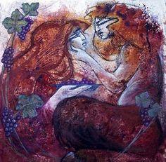 Bacchus, oil by Marne Adler