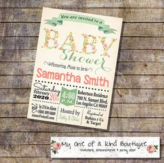 Hey, I found this really awesome Etsy listing at https://www.etsy.com/listing/216507758/baby-shower-invitation-shower-party