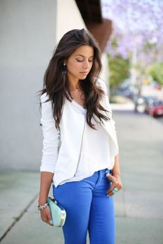 Bring some pop to your summer clothes with blue