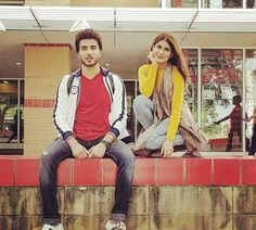 Imran Abbas with Kubra Khan