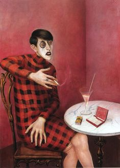 Otto Dix. Portrait of journalist Sylvia  I love this painting. She is so stylish