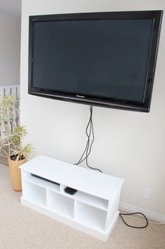 Hide Wire Clutter With A Shower Rod Oculto Hiding Tv Cords On Wall