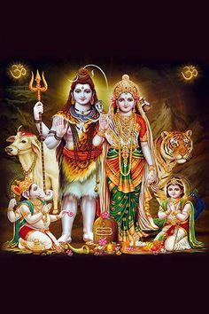 Ads Art Poster Wall decorative and Personalise Greeting cards Shiva Parvati Images, Durga Images, Mahakal Shiva, Shiva Art, Radha Krishna Pictures, Hindu Art, Lord Shiva Pics, Lord Shiva Hd Images, Lord Shiva Family