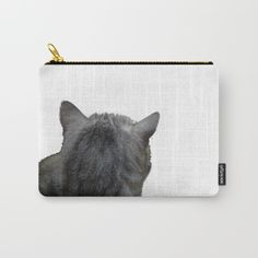 Cat Carry-All Pouch by azraelwest Organize Your Life, Buy A Cat, Wrap Around, Pouches, Art Supplies, Carry On, Ipad, Exterior, Canvas