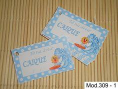 Tag Cartão Lembrancinha Bebê Surfista