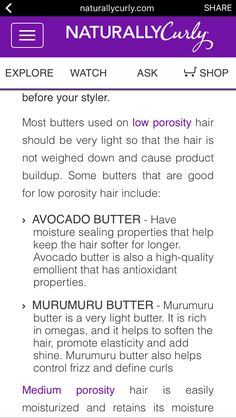 Hair Butters that are good for low porosity hair - CurlyJourny - Best Natural Hair Products, Natural Hair Care Tips, Natural Hair Styles, Low Porosity Hair Products, Hair Porosity, Butter, Pelo Natural, Hair Loss Treatment, Hair Care Routine