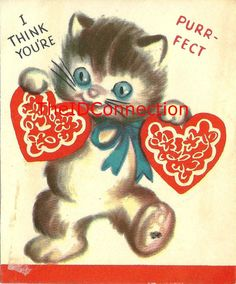 Vintage Valentine Digital Download Kitten by TheIDconnection, $10.00   Vintage Valentine Digital Download http://TheIDconnection.etsy.com 1950's Blue Eyed Pussy Cat Valentines Day Card  http://etsy.me/1lezqhj via @Etsy   Estate Sale treasure from the Roland Dressler Collection.etsy.com   Please convo me via Etsy  http://theIDconnection.etsy.com