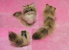 Agulha de Ouro feltrada gato persa em miniatura por LilyNeedleFelting