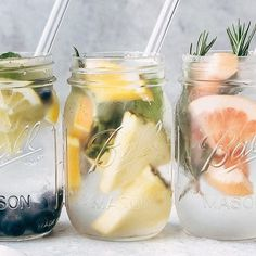 5 Infused Waters to Sip on This Summer - 5 recipes for infused water that you can enjoy all summer long A great alternative to carbonated beverages and it s prettier to look at too Infused Water Recipes, Fruit Infused Water, Infused Waters, Fruit Water, Healthy Eating Tips, Healthy Nutrition, Healthy Drinks, Detox Drinks, Detox Juices
