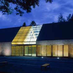 db2 Architect, Wroclaw Polland, admin building for a farm, variety in light emitting at night