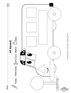 Tractor tracing for pre-writers! Already had to print this