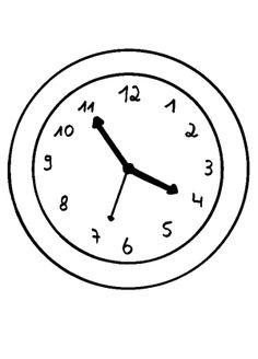 Uhr Ausmalbild 01
