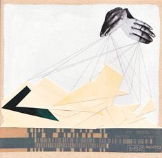 Illustrative work of hands and abstract mountains. I like how graphic this is, but it is perhaps a little too rigid.