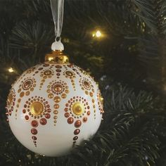 Christmas tree is up:)) Took us three tries, never knew that getting a Christmas tree can be so cutthroat :) Be aware! Christmas Baubles, Christmas Crafts, Christmas Decorations, Christmas Ideas, Christmas Tree, Christmas Mandala, Painted Christmas Ornaments, Dot Art Painting, Christmas Jewelry