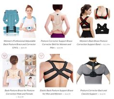 Posture braces for everyone. Affordable and comfortable.  https://thenaturalposture.com/collections/all