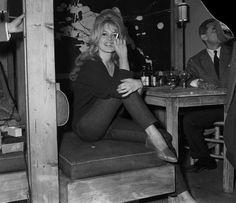 Beatnik look...Cigarette Pants + Boyfriend Sweater.  Brigette Bardot