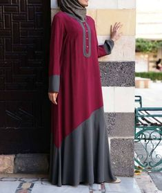Color block abaya for Modern girls – Girls Hijab Style & Hijab Fashion Ideas Hijab. Islamic Fashion, Muslim Fashion, Modest Fashion, Fashion Dresses, Abaya Designs, Modest Dresses, Modest Outfits, Eid Dresses, Abaya Mode
