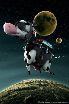3D Cow Character by Rodrigo Banzato