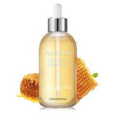 Tosowoong Propolis Sparkle Ampoule is made with 80% propolis extract, this lightweight ampoule hydrates and nourishes the skin without irritation.