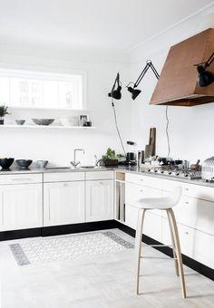 white cabinets + bra