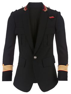 DRBLOGSPOT: The Balmain Embroidered Wool Military Jacket
